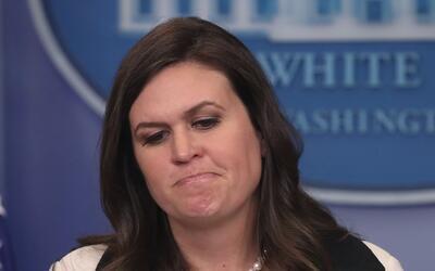 Sarah Sanders Huckabee, portavoz de la Casa Blanca.