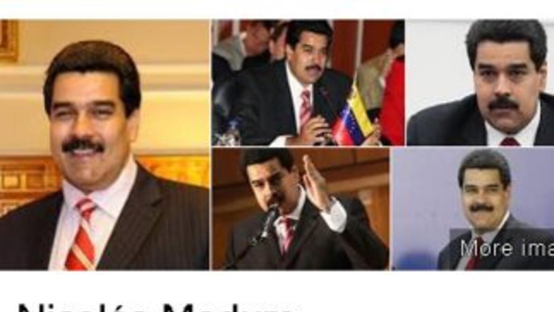 Estas son las cinco imágenes de Nicolás Maduro que aparecen en el buscad...