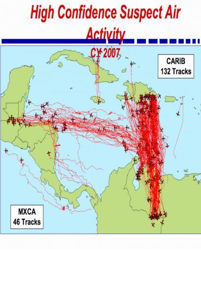Mapa incluido en un reporte del zar antidrogas de la Casa Blanca, que mu...