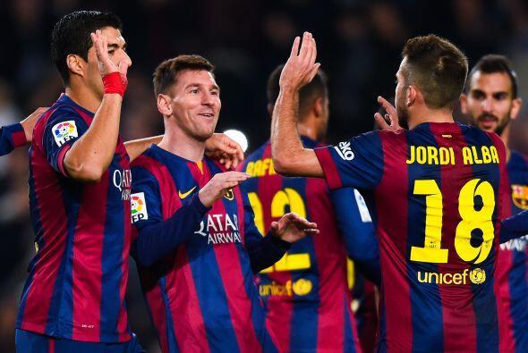 Messi lleva 15 goles en lo que va de la Liga española 2014-15 en donde h...