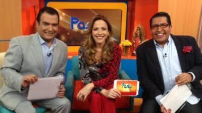 Alex Kaffie, Laura Luz y Ricardo Escobar, los presentadores de Pasillo TV.