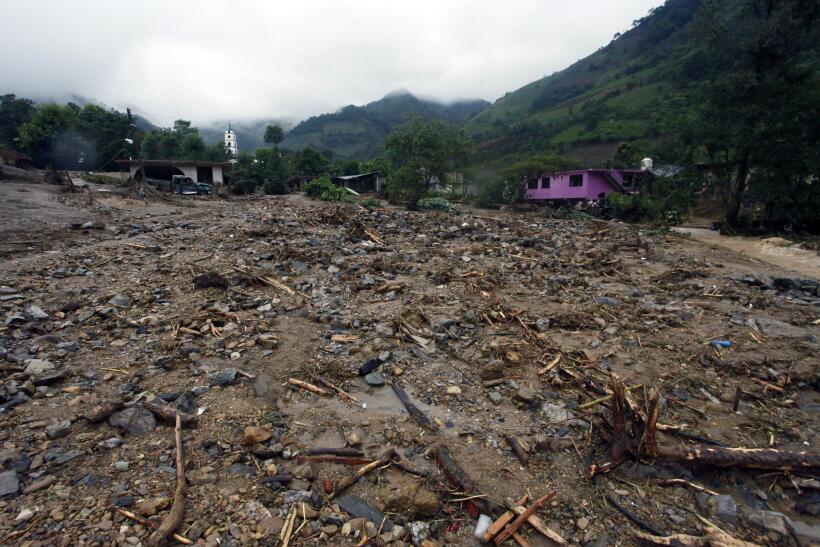 Destrucción tras el paso de Earl por México