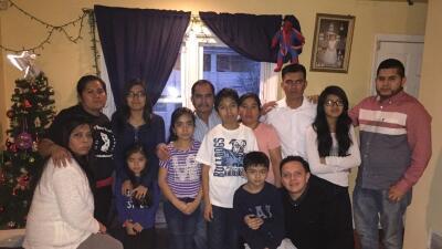 La familia de Germán Nieto.