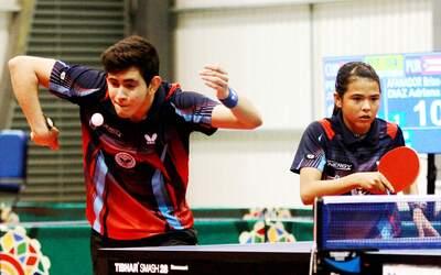 Tenismesistas de la delegación de Puerto Rico en las Olimpiadas d...