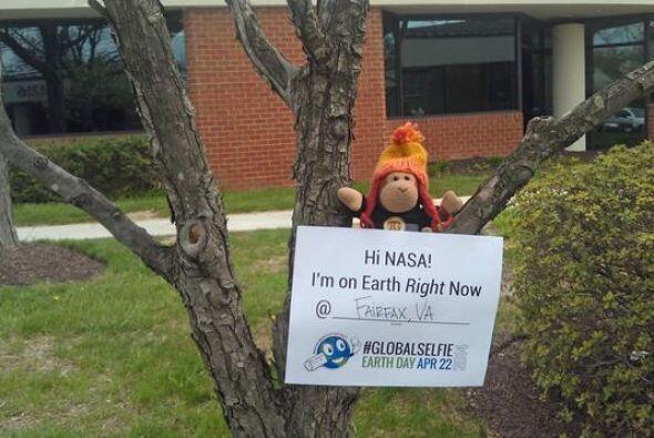 Este changuito mandó su #EarthDay #GlobalSelfie desde Fairfax, Virginia....