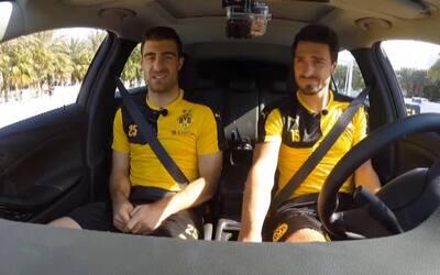"""Las estrellas del Borussia Dortmund jugaron al """"fútbol-auto"""""""