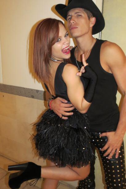 Para la segunda gala, Ana Cristina cantó con Fernando Corona.