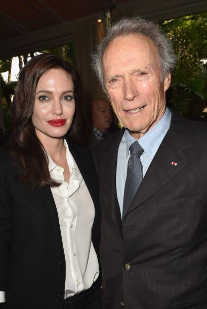 Angelina con Clint Eastwood