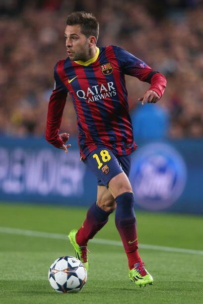 Jordi Alba (7): El mejor de la zaga azulgrana en la primera mitad. Subió...