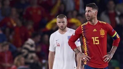 Sergio Ramos cree que España regaló el primer tiempo ante Inglaterra