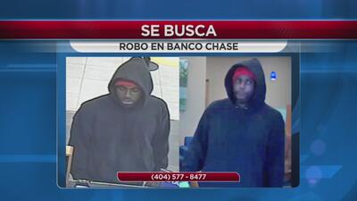 Se busca por robo a banco Chase en Gwinnett