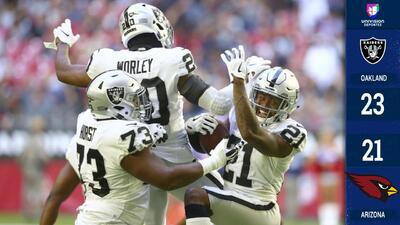 Raiders vuelve a ganar en su visita a Arizona después de cinco derrotas seguidas