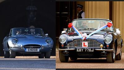 Harry vs. William: qué príncipe manejó el mejor convertible en el día de su boda