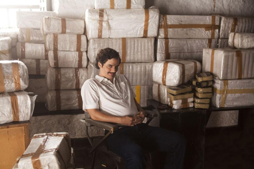 """Wagner Moura plays Pablo Escobar in """"Narcos"""" on Netflix."""