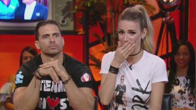 Alessandra no se pudo aguantar la risa e hizo que Pedro Moreno perdiera