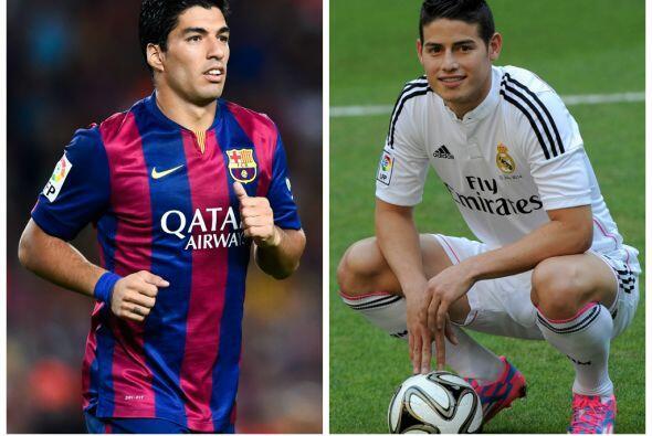 En cualquier caso, Luis Suárez y James Rodríguez encabezan...