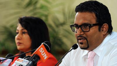 El vicepresidente de Maldivas, Ahmed Adeeb.