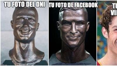 El nuevo busto de Cristiano no se salvó de los divertidos memes