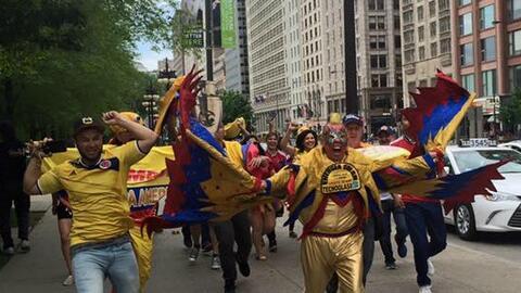 Fanáticos de la selección de Colombia se reunieron en la M...