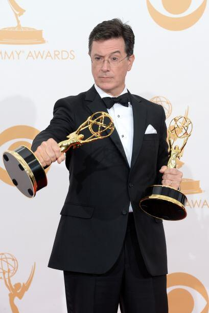 Stephen Colbert, cuyo show ganó el Mejor programa de variedad. Mira aquí...