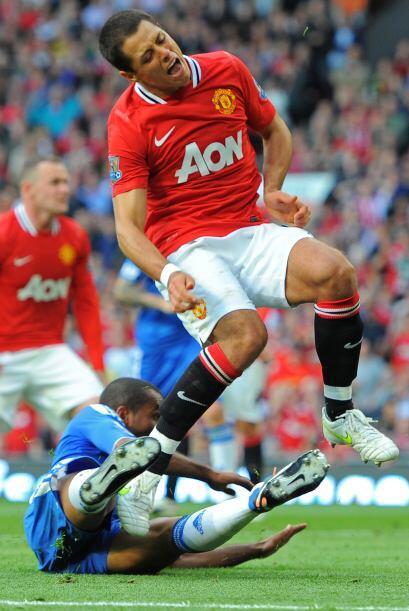 Ya en los minutos finales, justo cuando pudo marcar su gol falló un disp...