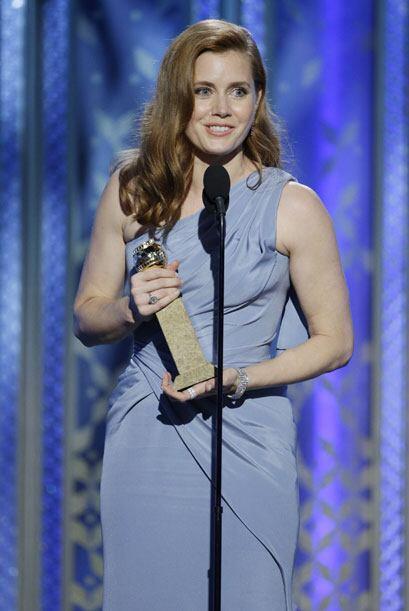 Amy Adams, mejor actriz en comedia o musical - cine, por 'Big Eyes'.