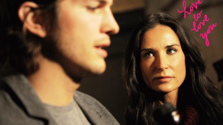 Actores Ashton Kutcher y Demi Moore hablan en con prensa por el lanzamie...
