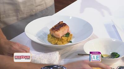 La receta: salmón a la teriyaki majado caribeño