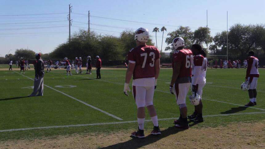 ¡Los Cardenales en prácticas para llegar al Super Bowl!