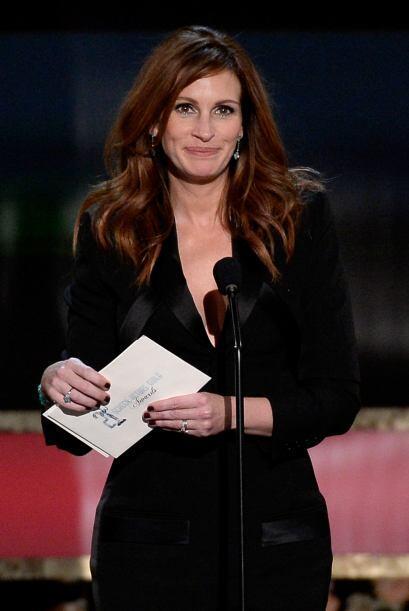 Julia Roberts anunció Mejor actor en cine.
