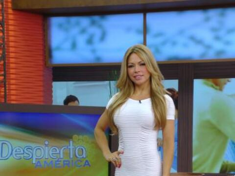 Claudia Molina se unió a la campaña de salud que esta sema...