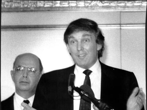 Wilbur Ross y Donald Trump