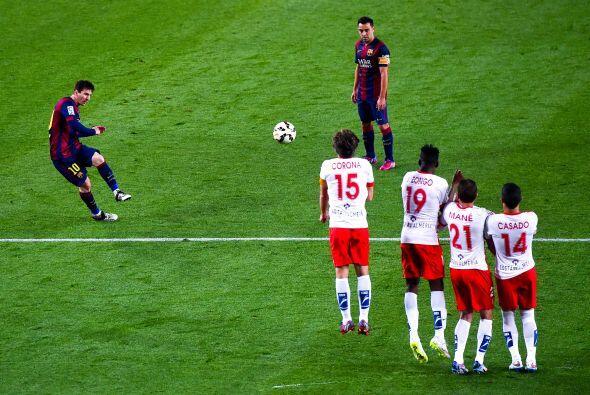 Cerca del final Messi estuvo a punto de marcar un golazo tras el 3-0 de...