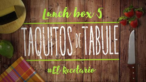 Taquitos de tabule + queso manchego (Día 5) - 23 ideas para lunch boxes...