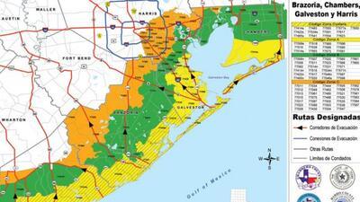 Mapa evacuaciones