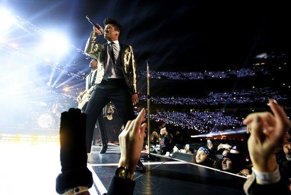 Magnífico show de Bruno Mars.