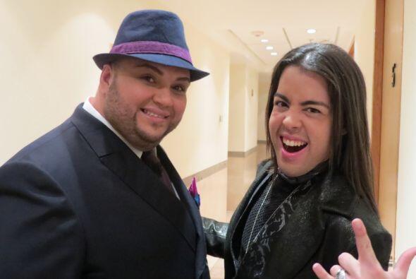 Ricardo Rivera y Raúl Vidal nos regalan su mejor pose.