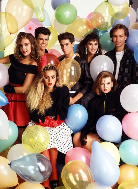 Timbiriche en 1987: Thalía, Eduardo Capetillo, Diego Shoening, Edith Már...