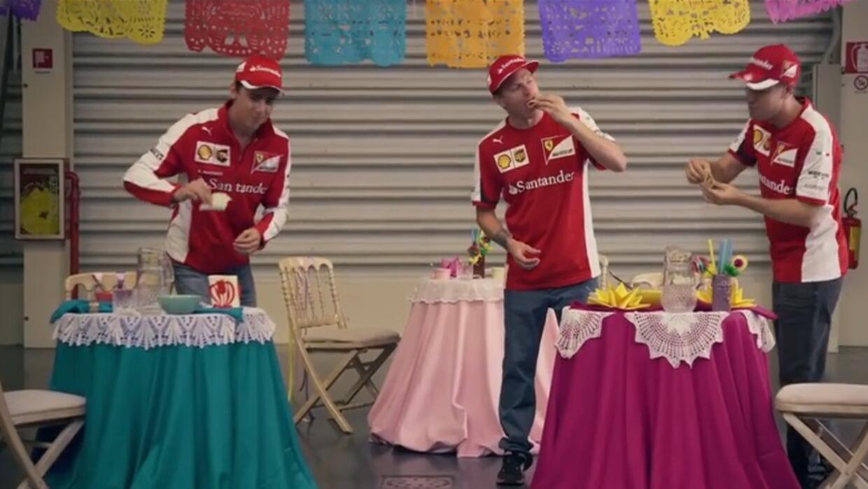 Los pilotos de Ferrari se preparan para al GP de México