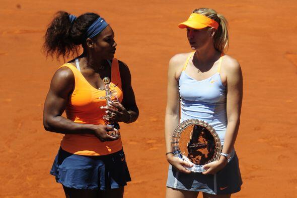 Fue la primera derrota de Sharapova en una final en arcilla roja, tras g...