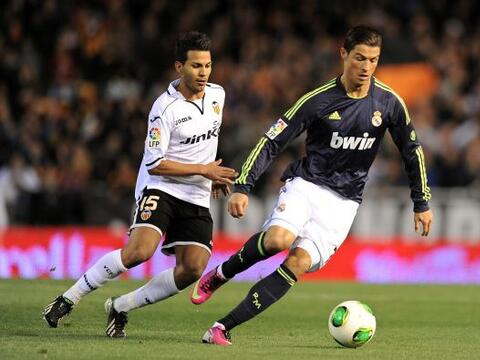 Cristiano Ronaldo estuvo muy activo en los primeros minutos del encuentro.