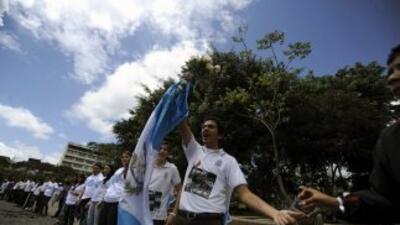 Cientos de jóvenes guatemaltecos conmemoraron el Día Internacional de la...