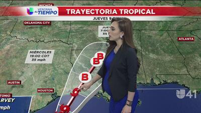 Tormenta tropical Harvey se dirige hacia Louisiana