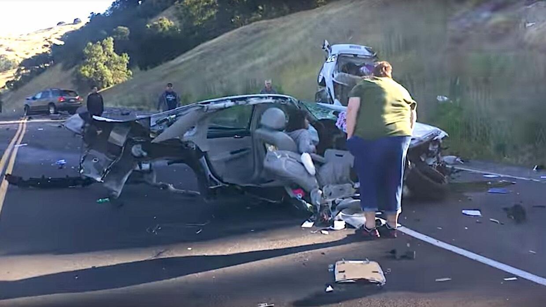 La conductora del Impala salió del accidente milagrosamente ilesa.