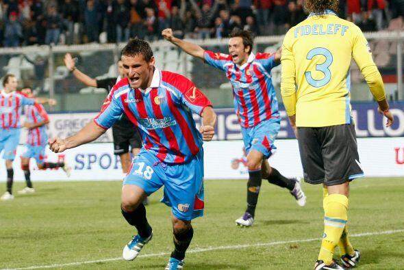Y el gol del triunfo para el Catania lo marcó otro sudamericano.