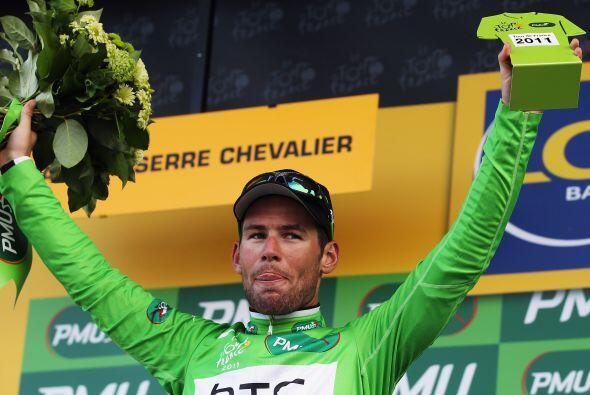 El inglés Mark Cavendish portará nuevamente el maillot verde tras lidera...