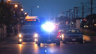 Una manifestación deteniendo el tráfico en St. Paul, Minnesota, el año p...