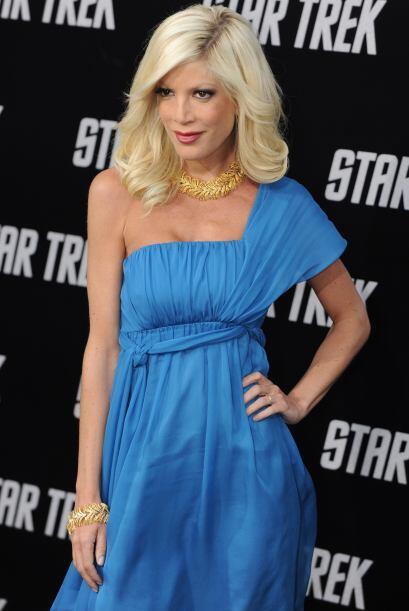 "Tori Spelling, una de la actrices de la serie ""90210"" e hija del exitoso..."