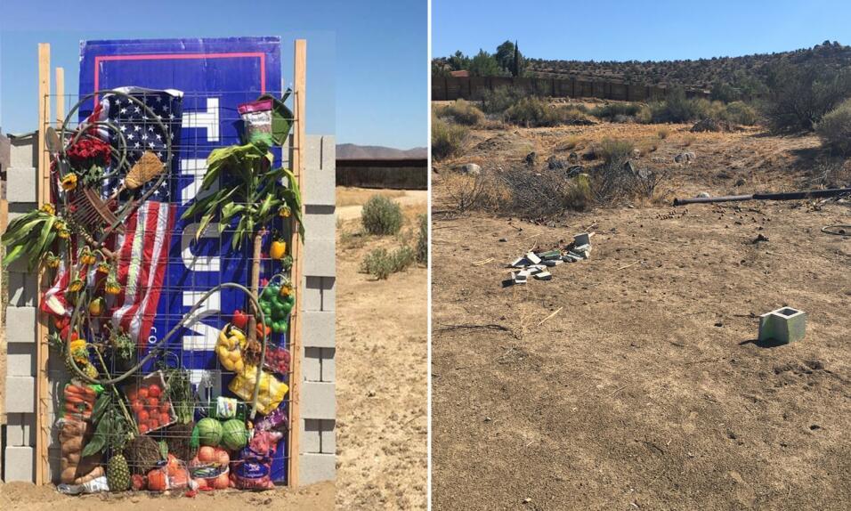 El antes y después del muro simbólico creado por los artistas David Glee...