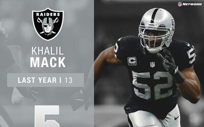 #5: Khalil Mack (LB, Raiders) | Top 100 Jugadores 2017